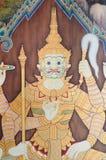 在寺庙的巨型绘画 免版税库存图片
