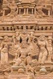 在寺庙的希瓦雕象在Thirumayam 免版税库存照片