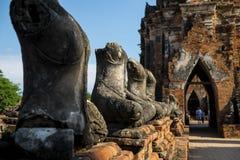 在寺庙的某一没有头菩萨图象 免版税库存图片