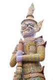 在寺庙的桃红色巨人 免版税库存照片