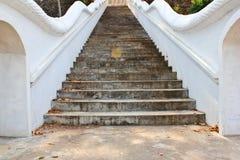 在寺庙的楼梯 库存照片