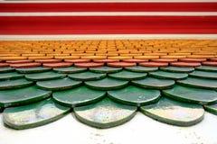 在寺庙的泰国屋顶样式在Wat Pho寺庙 库存照片