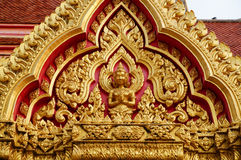 在寺庙的泰国样式样式 免版税库存照片