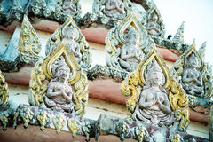 在寺庙的泰国装饰 免版税库存图片