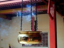 在寺庙的烧伤hio 库存照片