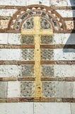 在寺庙的玛雅人装饰 免版税库存图片