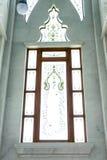 在寺庙的窗口 库存照片