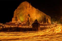 在寺庙的美好的光 库存照片