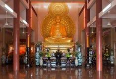在寺庙的菩萨雕象在西贡 免版税库存照片