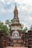 在寺庙的菩萨雕象 库存图片