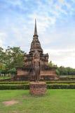 在寺庙的菩萨雕象 免版税库存照片