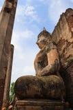 在寺庙的菩萨雕象 免版税库存图片