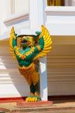 在寺庙的雕塑 老挝万象 图库摄影