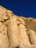 在寺庙的雕象在Abu Simbel 免版税库存照片