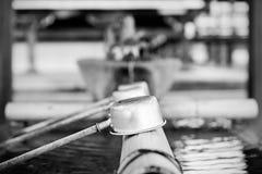 在寺庙的洗净喷泉在京都,日本 库存照片