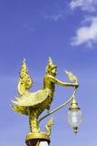 在寺庙的Garuda金子 库存图片