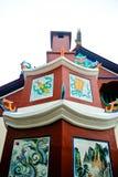 在寺庙里面的中国塔 免版税图库摄影