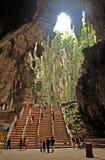在寺庙里面的batu洞 库存图片