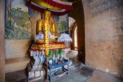 在寺庙里面, Bagan,缅甸 免版税库存图片