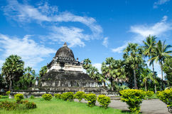 在寺庙,古老寺庙,老挝的艺术。 库存照片