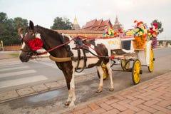 在寺庙Phra的马支架那Lampang Luang 库存图片