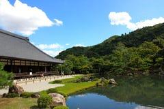 在寺庙tenryuji附近的日本京都 免版税库存照片