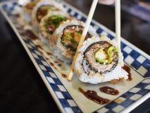 在寿司的筷子 库存图片