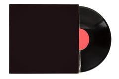在封口盖板的唱片 免版税图库摄影