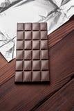 在封皮的巧克力块 库存图片