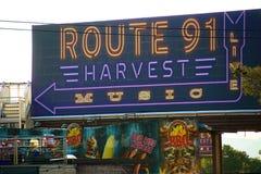 在射击事件以后的路线91收获活地点 免版税库存图片