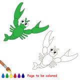 在将上色的传染媒介动画片的小龙虾 图库摄影