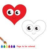 在将上色的传染媒介动画片的心脏 库存照片