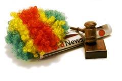在小丑的最新新闻 免版税库存图片