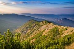 在小丘污蔑之间的山 山波兰tatra 免版税库存图片