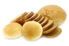 在小剪切的大面包上添面包 库存图片