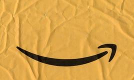在小包的亚马逊商标 免版税库存图片