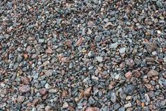 在小卵石被盖的海滩 免版税图库摄影