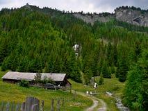 在小屋Fischerhutte的奥地利外型 库存图片