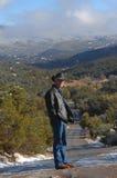 在小山上面在Sandias 库存图片