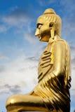在小山山的雕象 免版税图库摄影