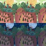 在小山的动画片城堡 库存图片