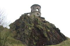 在小山的城堡 库存照片