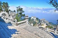 在小山的城堡 Ba Na小山,岘港越南 库存图片