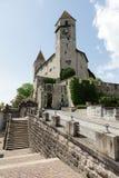 在小山的拉珀斯维尔城堡 库存图片