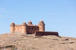 在小山顶的城堡在La卡拉奥拉西班牙上 免版税库存图片