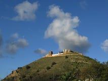 在小山顶的阿拉伯城堡 库存照片