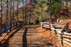 在小山,海伦,美国的小径 免版税图库摄影