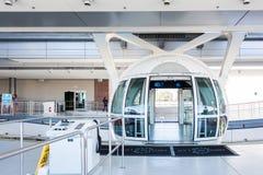 在小条的著名云霄飞车弗累斯大转轮在拉斯维加斯,内华达 免版税库存照片