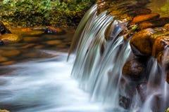 在小河的急流 亚龙湾热带天堂森林公园 库存照片