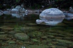 在小河1的冰砾 库存图片